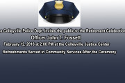 After 35 Years Colleyville Officer John Fossett to be Honored at Retirement Ceremony