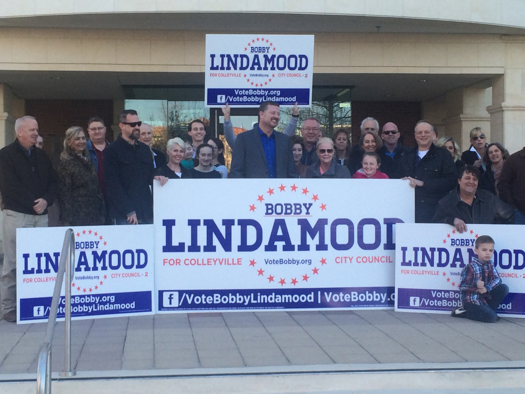 First Candidate Announcement for May City Council Election...Bobby Lindamood for Place 2