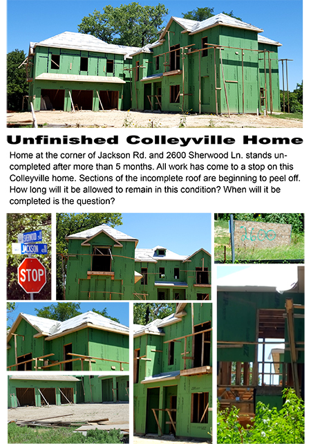Unfinished Colleyville Home