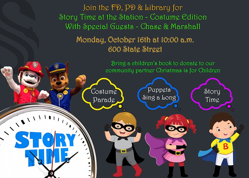 Join Southlake Fire Dept and Police Dept for Story time at the Station