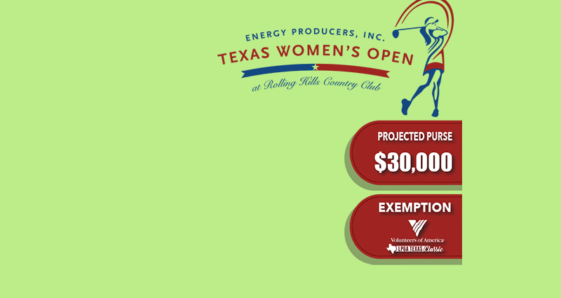 Registration Now Open Texas Women's Open at Rolling Hills Country Club,
