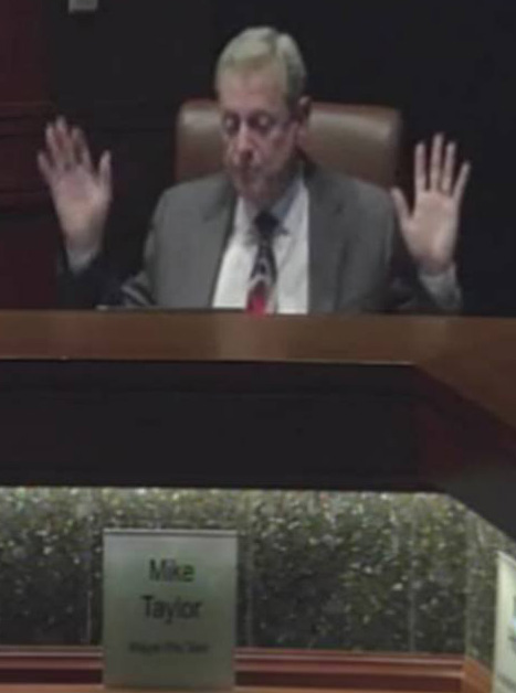 Taylor at council