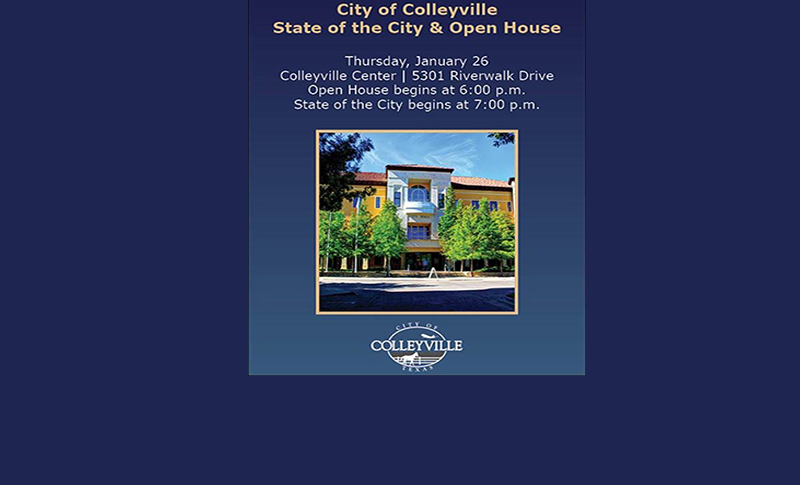 COLLEYVILLE STATE OF THE CITY SCHEDULED FOR JAN. 26, 2017