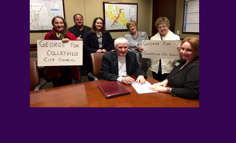 Today Last Day to File for City Council in Colleyville - George Dotson Registers