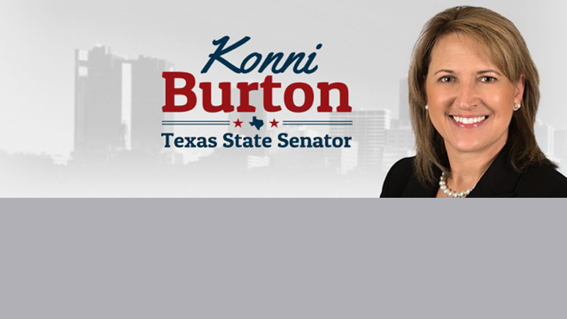 SEN. KONNI BURTON ANNOUNCES ENDORSEMENTS IN CAMPAIGN FOR REELECTION