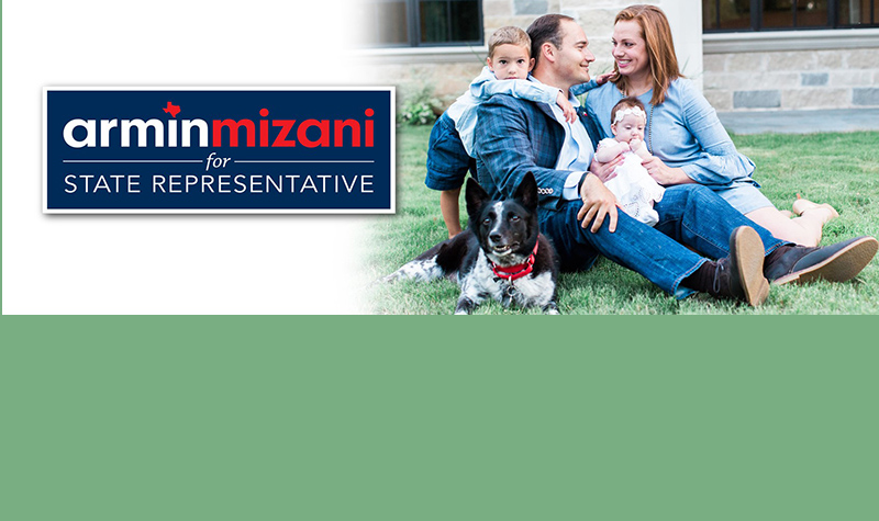 Armin Mizani, Keller Councilman Announces Run for State Representative HD 98 in News Release