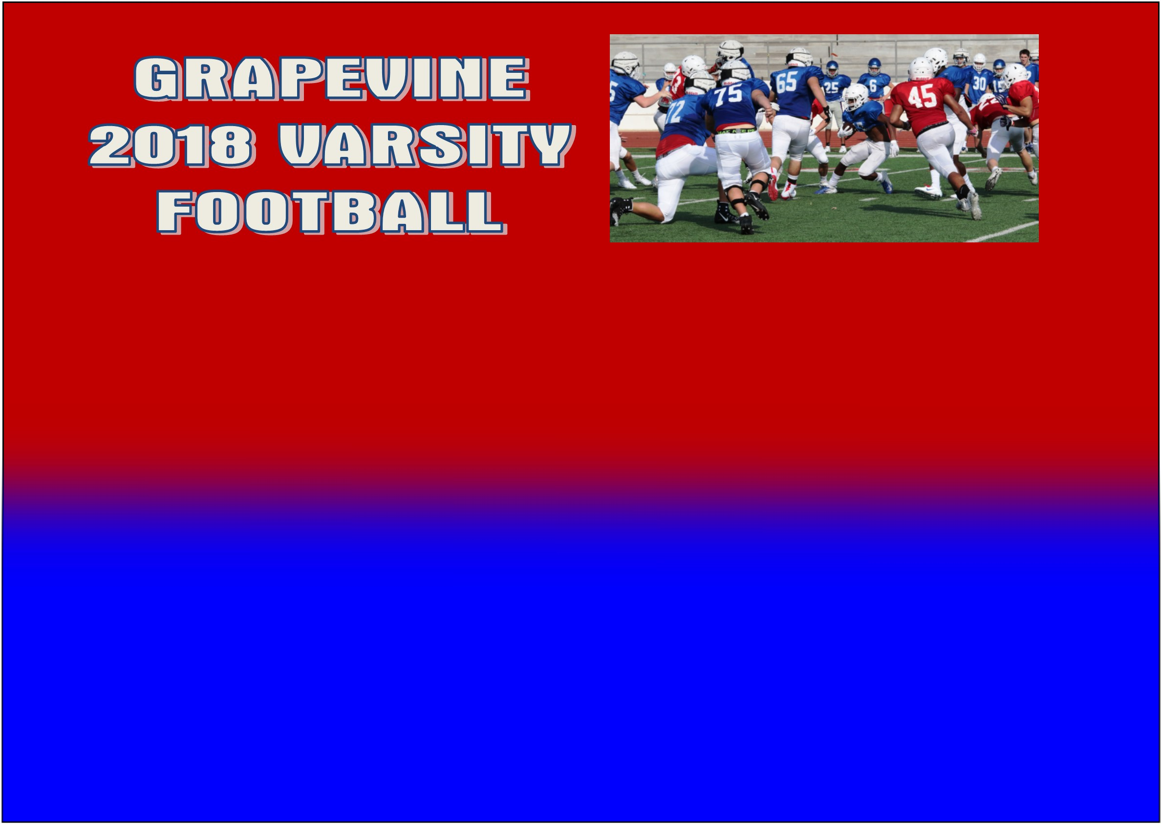 Grapevine Mustangs Holds 2018 Fall Football Kick-Off Practice Scrimmage